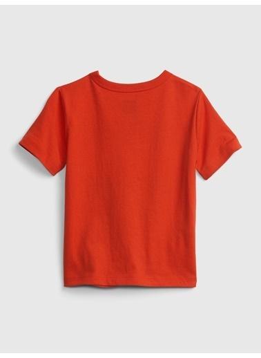 Gap Organik Pamuklu Grafik T-Shirt Kırmızı
